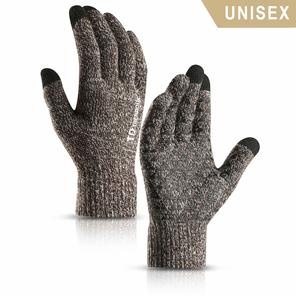 fe092ae37bb1a ... Knit Touch Screen Anti-Slip Silicone Gel - Elastic Cuff - Thermal Soft  Wool Lining - Stretchy Material. Picture. TRENDOUX Winter Glove is made of  95% ...